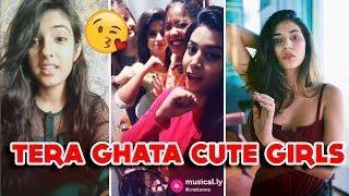 ISME TERA GHATA MERA KUCH NAHI JATA || MUSICALLY 4 GIRL SINGING TERA GHATA | CARRYMINATI ANGRY PRASH