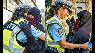 Danish Police Officer Embraces Muslim Woman In Support After Niqab Ban