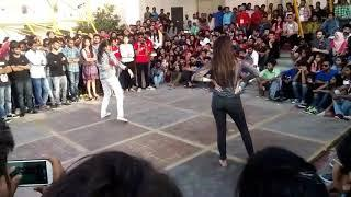 Girls dance competition in college