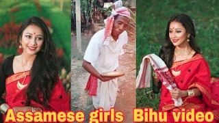 Assamese girls Sukanya Boruah Bihu Musical.ly Video