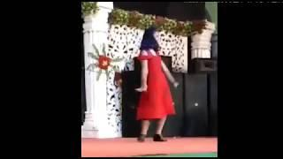 Cute Girl's dance performance on stage