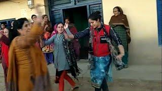 Bhaderwahi girls dancing after winning Panchayat election