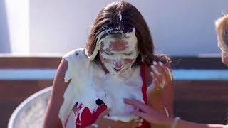 Love Island UK Ladies get Pied in the Face