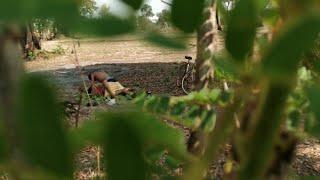 Girl with boyfriend in love in forest(short movie)