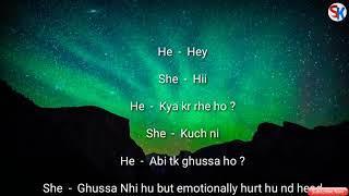 Cute conversation between Girl nd Boy ❤ Heart touching sad short Love story ❤A caring Boyfriend