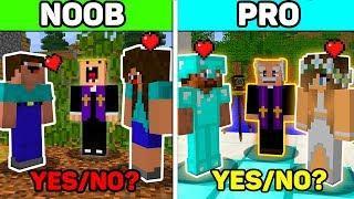 Minecraft - NOOB vs PRO vs HACKER : LOVE WEDDING GIRL FAMILY BATTLE in Minecraft Animation