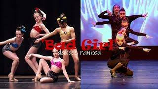 'Bad Girl' group dances ranked//Dance Moms