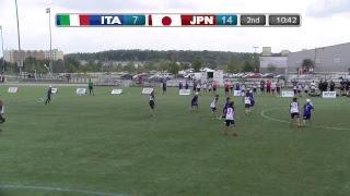2018 World Jr. Ultimate Championships | Game 9 - Women: Japan vs Italy | Aug. 20