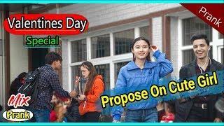 Nepali prank-tmi lai mero gf manxu ni(proposing to cute girls)Awesome Nepalese