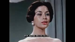 "1950s WOMEN'S BEAUTY & FASHION FILM     WOMAN'S FIGURE AND POSTURE  ""THE FASHIONABLE FIGURE""  62734"