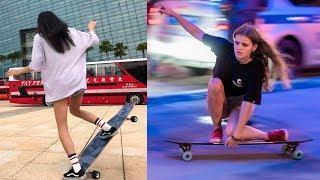 Best Longboarding Skills Musically Compilation 2018 - Longboard Girls Dance