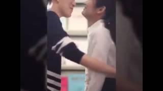 Miller He Jiaying Kiss scene (behind the scene Girls Love)