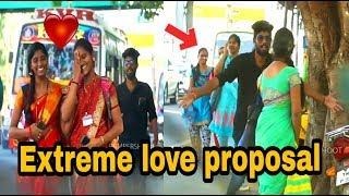 extreme love proposal prank on kovai girls| valentines special | bumbershoot pranks