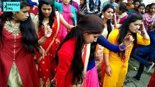 Kumauni marriage girls dance || Chholiya dance|| kumauni marriage video|| Khadak_weds_ganga part - 5