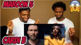 Maroon 5 - Girls Like You ft. Cardi B (CELEBRITY OVERLOAD!!!)(REACTION)