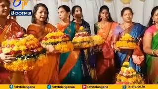 Bathukamma Celebrations Grandly Held by Women Corporators in Necklace Road | Hyderabad