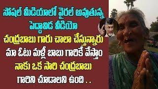 చంద్రబాబు చాలా చేస్తున్నారు మా ఓటు మళ్లీ  బాబుకే అంటున్న పెద్దమ్మ| Old Women  Opinion On Chandrababu