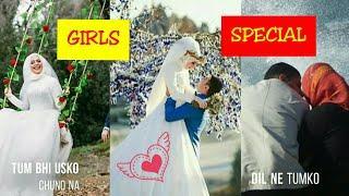 Muslim couple whatsapp status | Girls whatsapp Love Full screen status | Love4 u&me