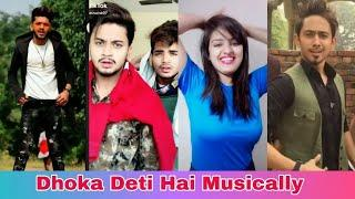 100 Me Se 90 Ko Dhoka Deti Hai Girl Musically Video | Girls vs Boys Musically Video, Adnan Musically