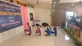 BNEC 21th annual day CSE GIRLS dance celebration - பாரத் நிகேதன் காலேஜ் டான்ஸ்