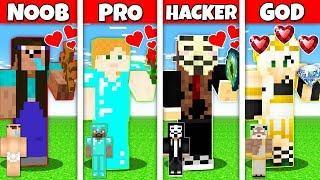 Minecraft Battle: NOOB vs PRO vs HACKER vs GOD : LOVE MEETING WITH A GIRL CHALLENGE in Minecraft