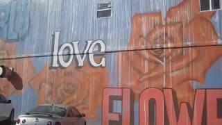 """""""Girls Love Flowers"""" Mural - Not Too Shabby!"""