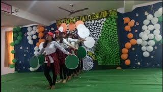 Patriotic Dance by 9th Class girls on Independenceday 2018