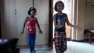 Little girls dance on kamariya