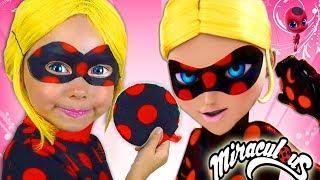 Super Hero Girls Kids Makeup & Costume Miraculous Alisa Pretend Play dress up in Little Heroes