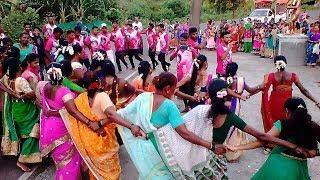 Aadivasi village Boys and girls Tarpa dance at Zai Patilpada, Ak Aadiwasi Village.