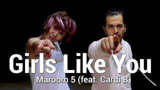 "MAROON 5 - ""Girls Like You"" ft Cardi B Dance 