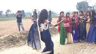 Tharu girls dance at bangaei chitwan