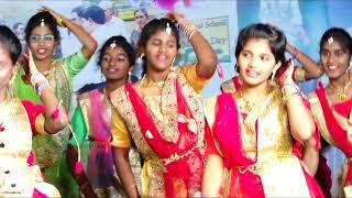 Saibaba Central School, Ongole Annual Day 2018-19 Senior Girls Dance