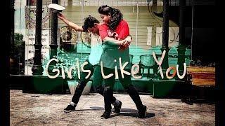Maroon 5 - GIRLS LIKE YOU || Souvik Das Choreography || Dance cover || ft Mousmita Murmu