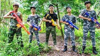 Hihahe Nerf War: S.W.A.T & Sweet Lady Nerf Battle Bad Boy Love and Betrayal Nerf Movies