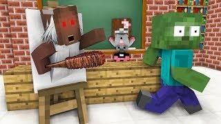 Monster School: GIRLS LOVE GRANNY + DRAWING CHALLENGE - Minecraft Animation