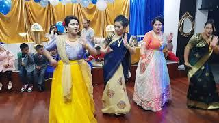 "2 Girls Dance performance :  "" LEJA LEJA RE ""   RIYAZ WEANING CEREMONY"