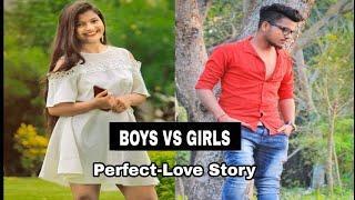 BOYS VS GIRLS || Parfect Love Story || Assamese Comedy video || Assamese Funny Video By  Funny Club