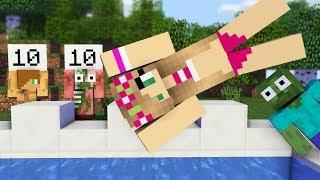 Monster School: GIRLS VS BOYS SWIMMING GAME CHALLENGE - Minecraft Animation