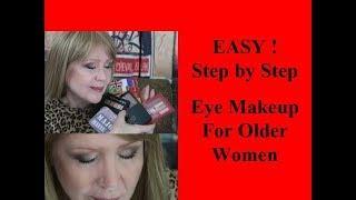 EASY Basic Eye Makeup For Older Women Using Drugstore STEP BY STEP!