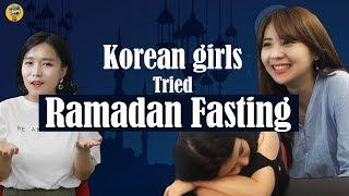 Korean girls tried ramadan fasting! |Selamat Hari Raya XD|Blimey