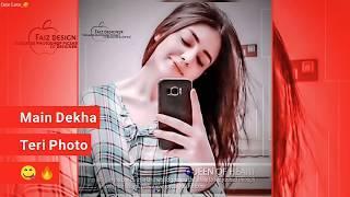 Female sad + Love song Fullscreen WhatsApp status |new girl WhatsApp status|Teri photo |Cute love