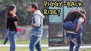 Giving Indian Girls 'Piggy-Back' Rides!!