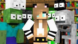 Monster School : GIRL LOVE CHALLENGE - Girls vs Boys Funny Minecraft Animation