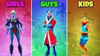 GIRLS vs GUYS vs KIDS in Fortnite Battle Royale! Ep.564