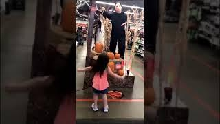 Little Girl Dances in Front of Michael Myers to the 'Halloween' Theme