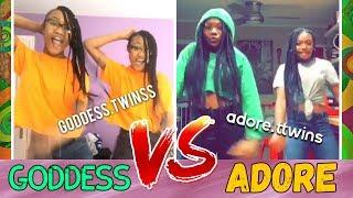 GODDESS vs ADORE Twins Dance Battle ???? Best Girls Instagram Dances Compilation