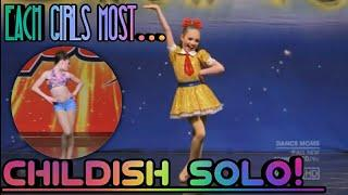 Each girls most childish solo! | Dance Moms