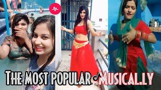 The most popular musical.ly videos of Aug 2018 || Girls dance haryanvi song