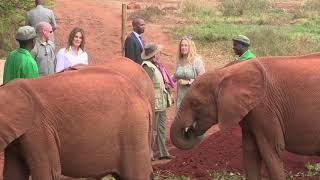 AMERICA'S FIRST LADY MELANIA TRUMP IN KENYA, AMAZING STUFF AS SHE SHOWS HER LOVE TO ELEPHANTS!